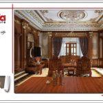 Mẫu nội thất phòng khách biệt thự lâu đài tại Nam Định SH BTLD 0023