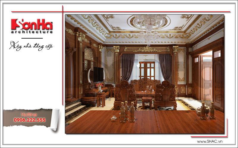 nội thất phòng khách bằng gỗ cao cấp nhất
