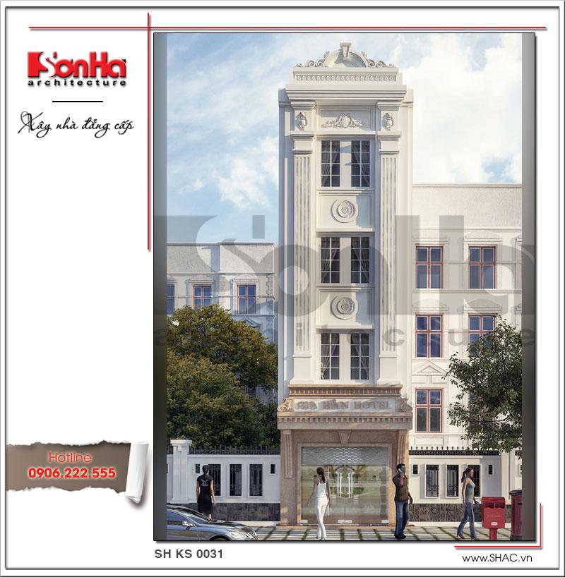 Mẫu thiết kế khách sạn mini 4 tầng kiến trúc cổ điển tại Sài Gòn được bình chọn là một trong những mẫu khách sạn thiết kế đẹp nhất Việt Nam 2017