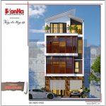Mẫu thiết kế nhà phố hiện địa mặt tiền rộng 4 tầng tại Hà Nội sh nod 0162