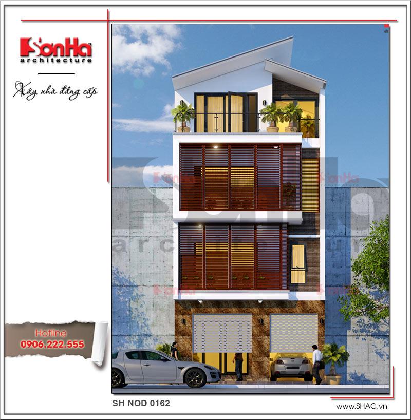 Khám phá mẫu nhà phố hiện đại 4 tầng mặt tiền độc đáo tại Hà Nội – SH NOD 0162 1
