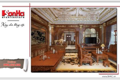 Mẫu thiết kế nội thất phòng khách cổ điển đẹp SH BTLD 0023