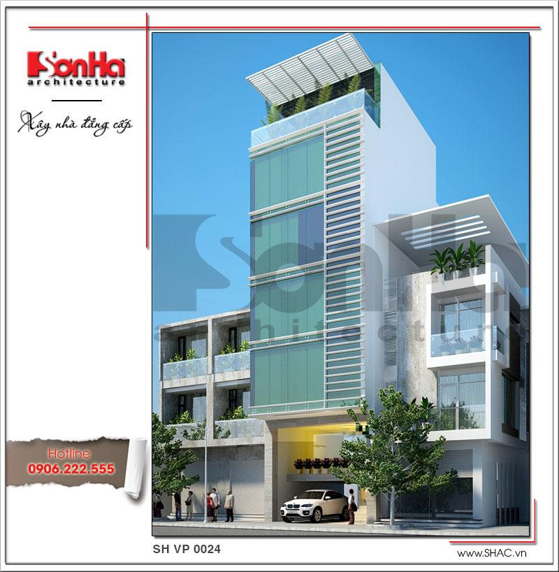 Một trong những mẫu thiết kế văn phòng kiến trúc hiện đại đẹp nhất 2017 đề xuất cho Hà Nội