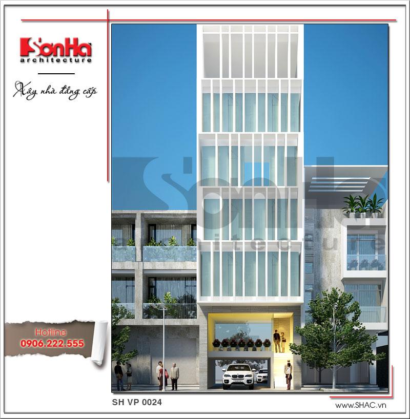 Thêm một phiên bản thiết kế tòa nhà văn phòng cao tầng hiện đại điển hình đẹp nhất Việt Nam