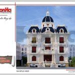 Thiết kế kiến trúc đảng cấp của biệt thự lâu đài cổ điển tại Nam Định SH BTLD 0023
