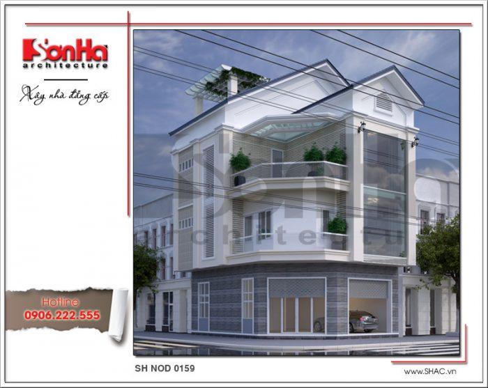 Thiết kế kiến trúc nhà phố 4 tầng hiện đại tại Lạng Sơnsh nod 0159