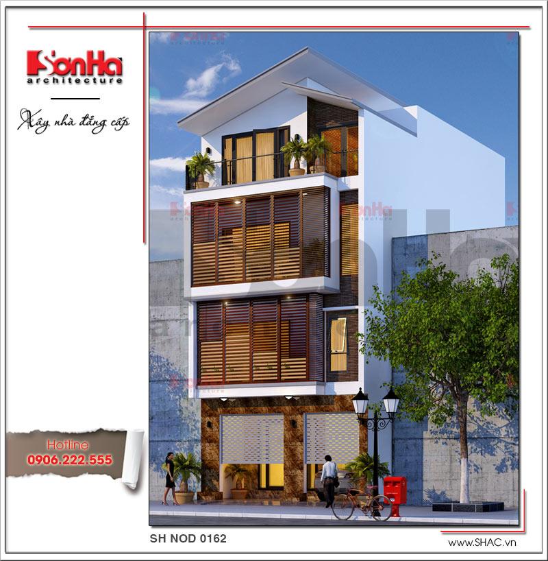 Khám phá mẫu nhà phố hiện đại 4 tầng mặt tiền độc đáo tại Hà Nội – SH NOD 0162 2