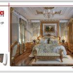Thiết kế nội thất phòng ngủ lâu đài cổ điển ấm cũng tinh tế SH BTLD 0023