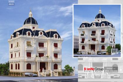 Biệt thự lâu đài 3 tầng mặt tiền rộng 17m