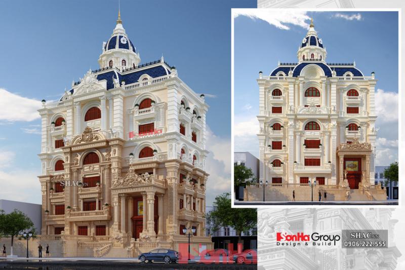 Biệt thự lâu đài 6 tầng 300m2 mặt tiền 25m