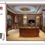 Mẫu thiết kế nội thất phòng bếp cổ điển đầy đủ tiện nghi SH BTLD 0023