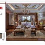 Mẫu thiết kế nội thất phòng ngủ 1 cổ điển đẹp sang trọng SH BTLD 0023