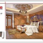 Mẫu thiết kế nội thất phòng ngủ kiểu cổ điển đẹp ấm áp SH BTLD 0023