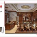 Thiết kế nội thất phòng bếp biệt thự lâu đài cổ điển SH BTLD 0023