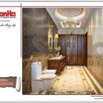 Thiết kế nội thất phòng tắm cổ điển ấm áp SH BTLD 0023