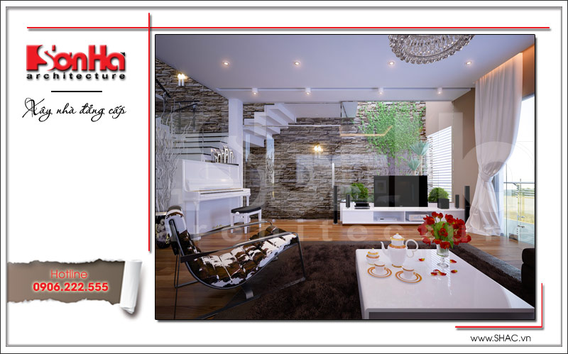 thiết kế nội thất phòng khách sh nod0163