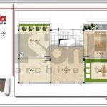 Mặt bằng công năng tầng 3 biệt thự hiện đại đẹp 3 tầng sang trọng tại Quảng Ninh SH BTD 0050