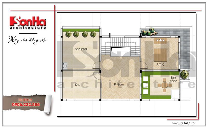 Mẫu thiết kế biệt thự hiện đại 3 tầng đẹp mới nhất [current_year] tại Quảng Ninh – SH BTD 0050 7