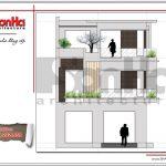 Mặt đứng chính biệt thự hiện đại đẹp 3 tầng sang trọng tại Quảng Ninh SH BTD 0050
