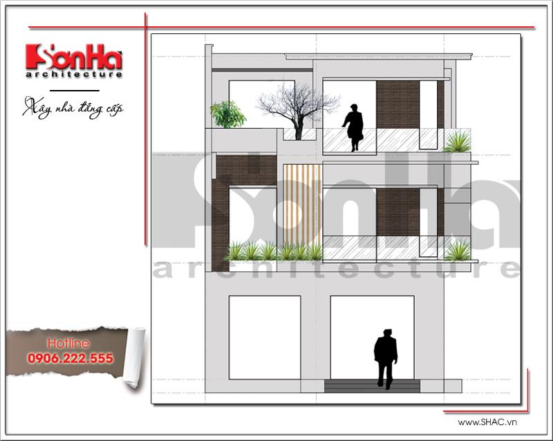 Mẫu thiết kế biệt thự hiện đại 3 tầng đẹp mới nhất [current_year] tại Quảng Ninh – SH BTD 0050 3