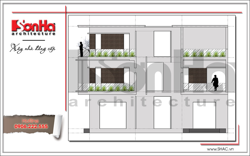 Mẫu thiết kế biệt thự hiện đại 3 tầng đẹp mới nhất [current_year] tại Quảng Ninh – SH BTD 0050 4