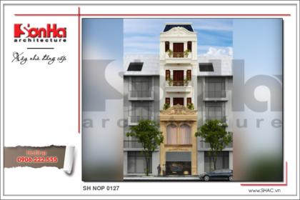 BÌA Thiết kế nhà phố cổ điển 5 tầng đẳng cấp tại Bắc Ninh sh nop 0127