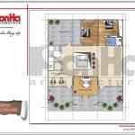 Mặt bằng công năng tầng 3 showroom kết hợp nhà ở tại Quảng Ninh sh sr 0020