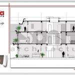 Mặt cắt A-A showroom kết hợp nhà ở tại Quảng Ninh sh sr 0020