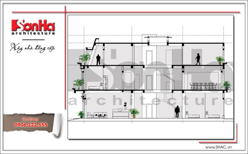 Ra mắt mẫu thiết kế showroom 3 tầng kết hợp nhà ở cao cấp tại Quảng Ninh – SH SR 0020 3