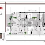 Mặt cắt D-D showroom kết hợp nhà ở tại Quảng Ninh sh sr 0020
