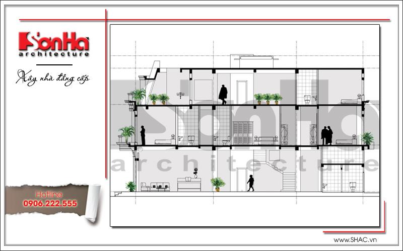 Ra mắt mẫu thiết kế showroom 3 tầng kết hợp nhà ở cao cấp tại Quảng Ninh – SH SR 0020 4
