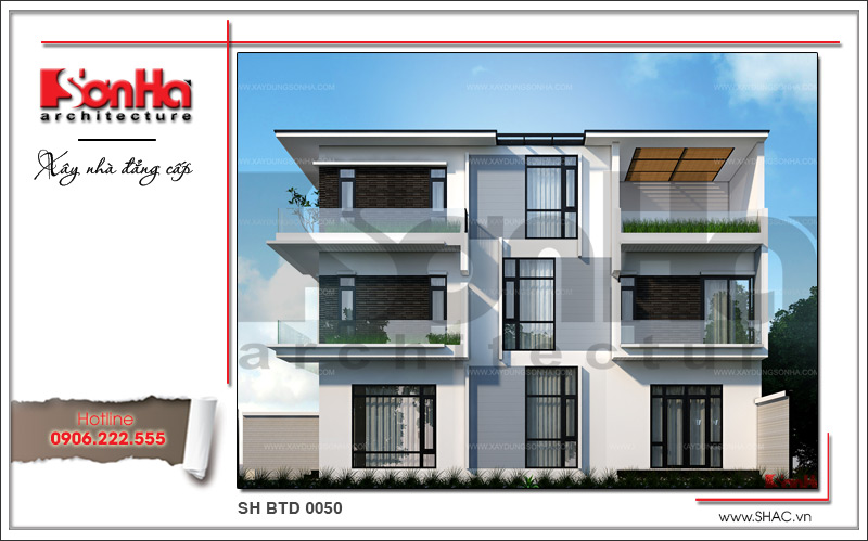 Mẫu thiết kế biệt thự hiện đại 3 tầng đẹp mới nhất [current_year] tại Quảng Ninh – SH BTD 0050 2