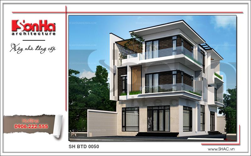 Mẫu thiết kế biệt thự hiện đại 3 tầng đẹp mới nhất [current_year] tại Quảng Ninh – SH BTD 0050 1
