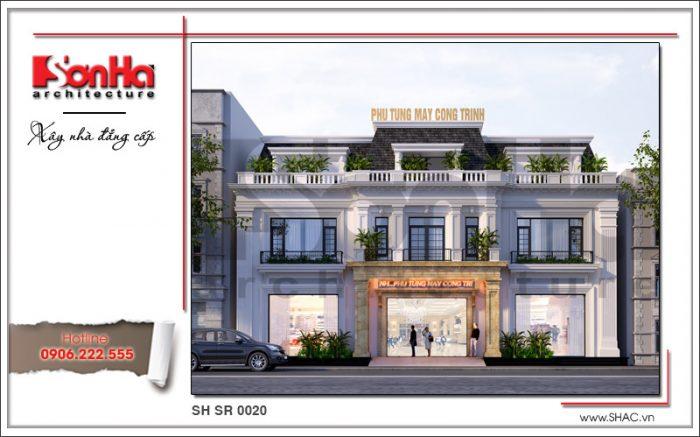 Mẫu thiết kế showroom 3 tầng đẹp của Sơn hà Group