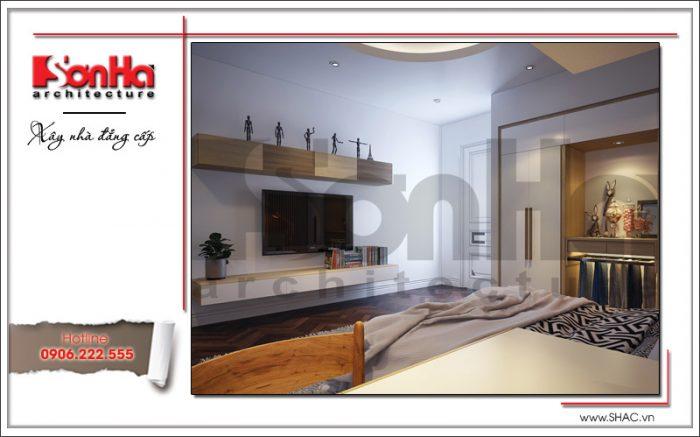 Mẫu phòng ngủ sang trọng tại nhà phố cổ điển 5 tầng sh nop 0127