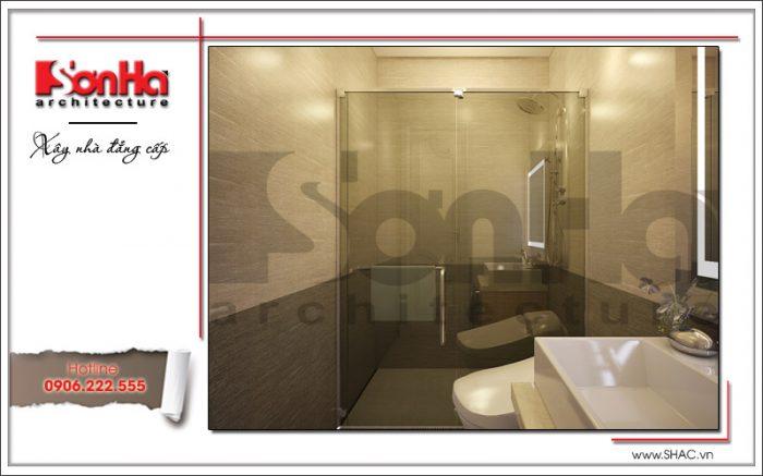 Mẫu phòng tắm đứng sang trọng nhà phố kiểu Pháp 5 tầng tại Bắc Ninh sh nop 0127