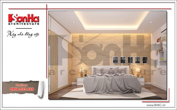 Mẫu thiết kế nội thất phòng ngủ đẹp tại nhà phố 5 tầng tại Bắc Ninh sh nop 0127