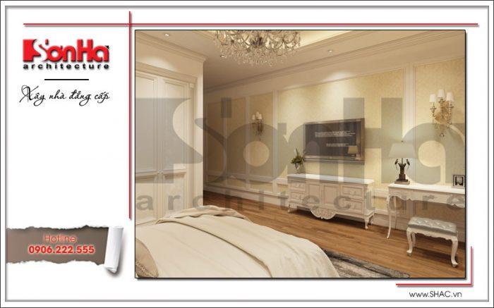Nội thất phòng ngủ thiết kế kiểu cổ điển sang trọng tại Bắc Ninh sh nop 0127
