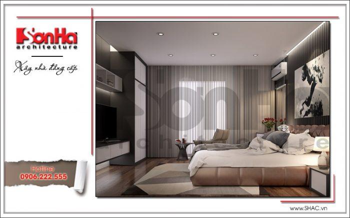 Nội thất phòng ngủ tiện nghi nhà phố cổ điển đẹp tại Bắc Ninh sh nop 0127