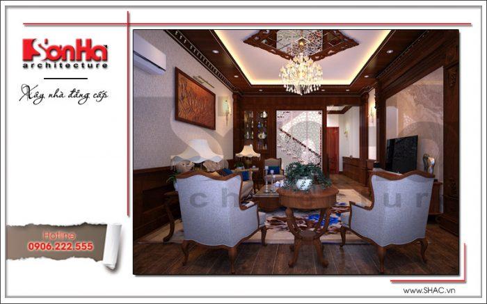 Đây cũng là một phiên bản được đánh giá cao trong thiết kế nội thất phòng khách sang trọng