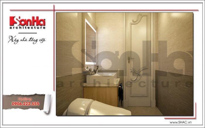 Thiết kế phòng vệ sinh nhà phố kiểu Pháp 5 tầng tại Bắc Ninh sh nop 0127