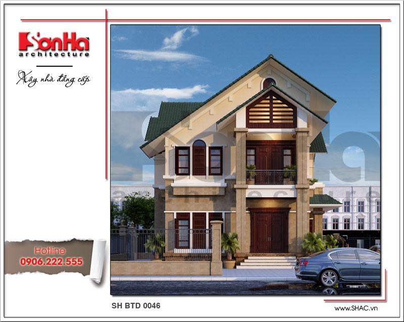 Thiết kế biệt thự hiện đại 2 tầng tại Hưng Yên sh btd 0046 2