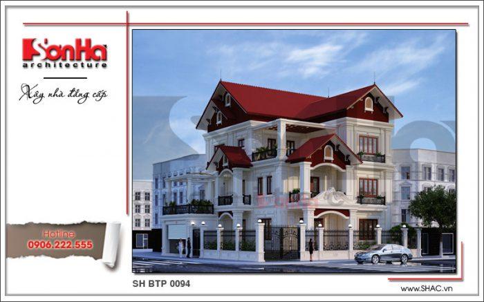 Thiết kế biệt thự kiến trúc cổ điển Pháp tại Ninh Bình sh btp 0094 2