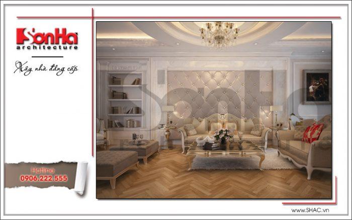 mẫu phòng khách đơn giản kiểu pháp tân cổ điển ấn tượng