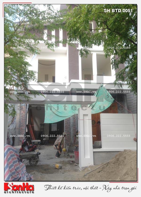 Biệt thự hiện đại 2 tầng đẹp điển hình xu hướng mới tại Hải Phòng - SH BTD 0051 13