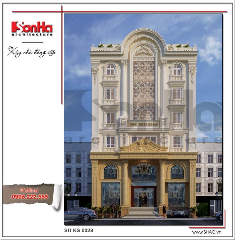 Mẫu thiết kế khách sạn kiến trúc Pháp cổ điển 7 tầng được đánh giá cao từ chủ đầu tư cả nước