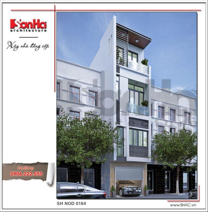 Mẫu nhà phố 4 tầng hiện đại và công năng tiện nghi tại Hà Nội SH NOD 0164