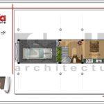 Mặt bằng tầng 1 nhà phố hiện đại 4 tầng tại Hà Nội SH NOD 0164