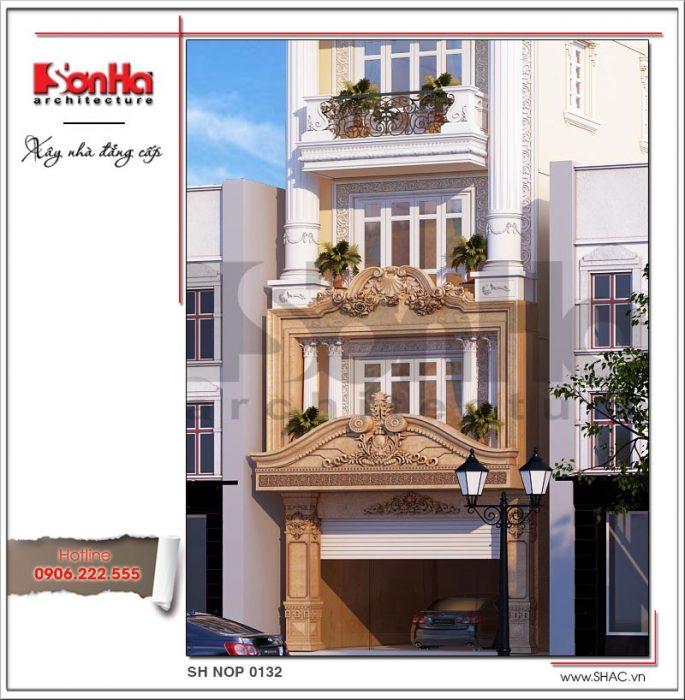 Thiết kế kiến trúc nhà phố cổ điển Pháp 8 tầng tại Sài Gòn SH NOP 0132
