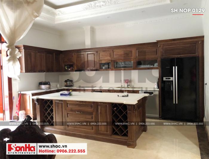 3 Ảnh thực tế nội thất phòng bếp ăn nhà ống cổ điển pháp tại hà nội sh nop 0129